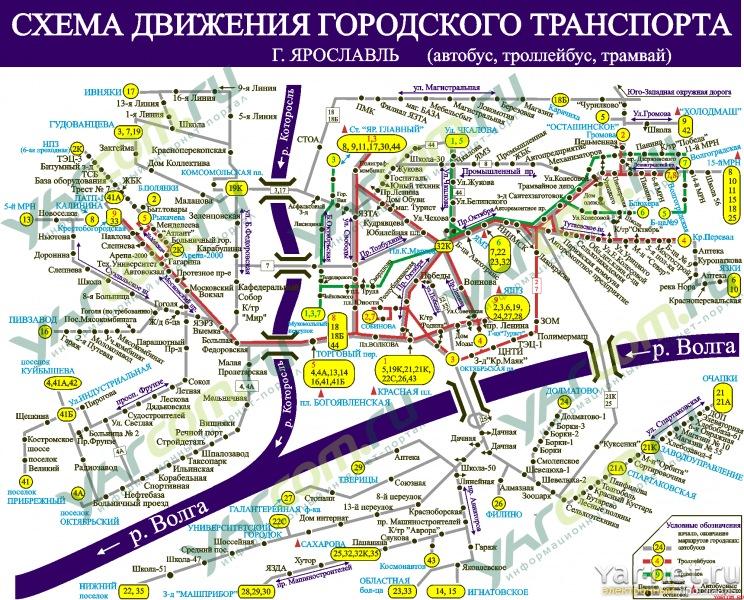 Схема движения маршрутного